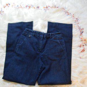 Larry Levine Stretch Denim Wide Leg Jeans, Size 4